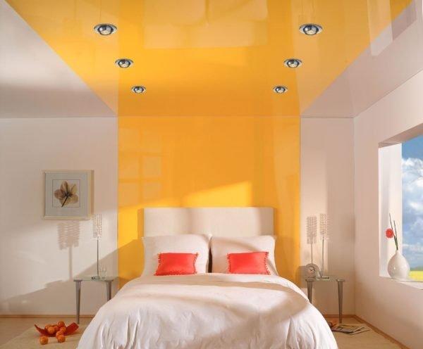 Пример сочетания желтого с белым