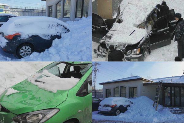 Примеры последствий неконтролируемого схода снега — немалый имущественный ущерб очевиден