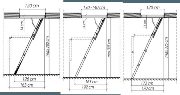 Простой чертеж для сборки складной лестницы на чердак