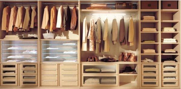 Расчет наполнения выполняется с учетом предпочтительной функциональности мебели