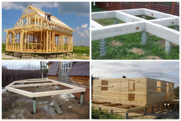 Распространённые типы домов, которые предпочтительно строить на буронабивных сваях