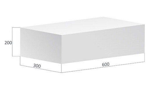 Распространенный размер газосиликатных блоков