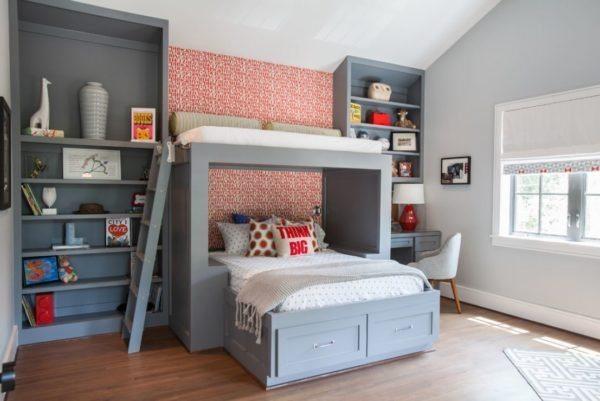 «Растяжка» серого цвета в отделке стен и мебели
