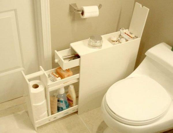 Рациональное использование пространства в туалетной комнате