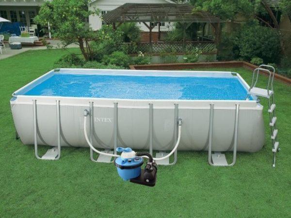 Разборный бассейн каркасного типа.