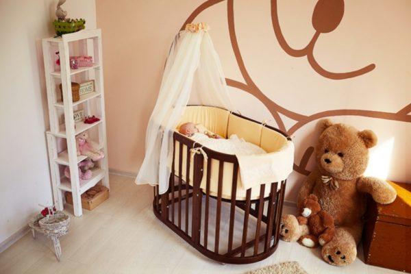 Разнообразные формы позволяют установить спальное ложе малыша в любом помещении