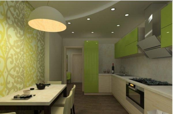Разные осветительные приборы помогут зонировать пространство