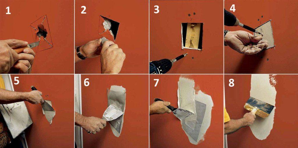 Как сделать большие отверстия в стене