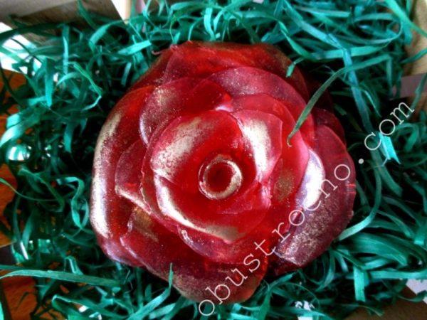 Роза из мыла