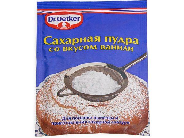 Сахарная пудра — второй компонент нашего состава