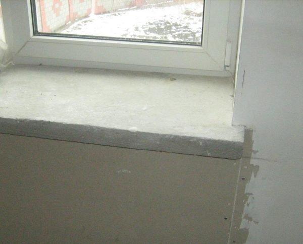 Самодельная бетонная плита