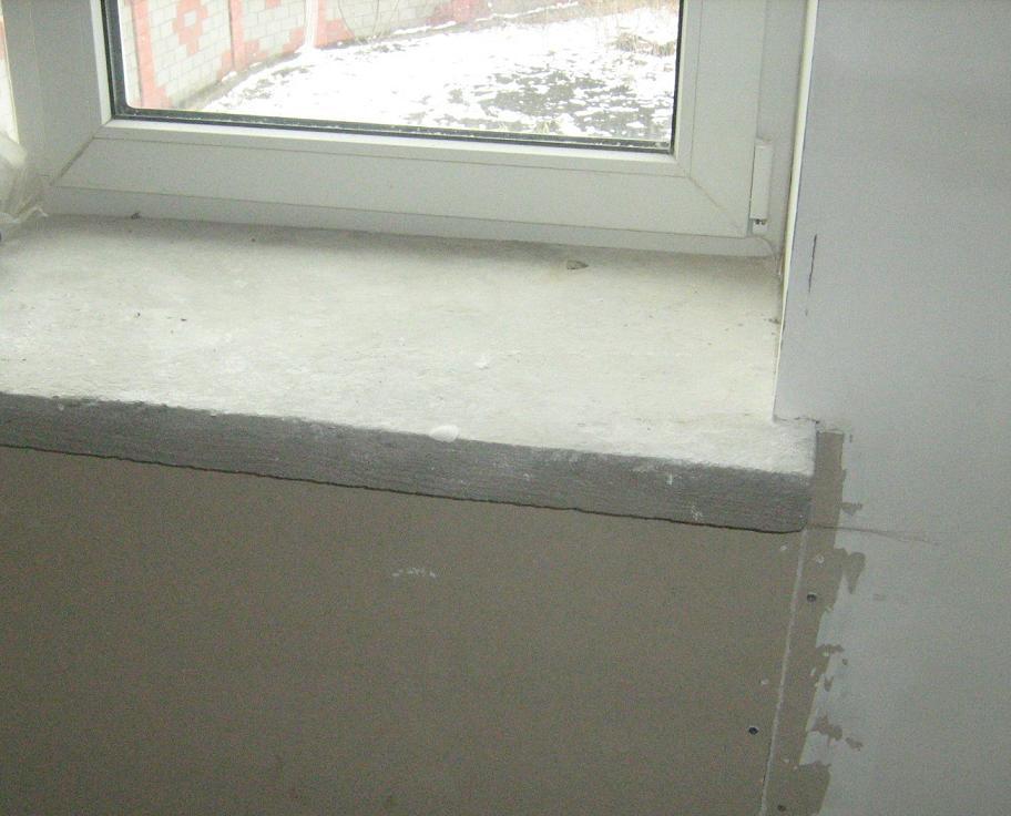 Подоконники из бетона своими руками