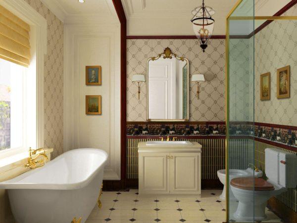 Самоклейка позволяет быстро и красиво отделать стены не только гостиной, но даже кухни или ванной