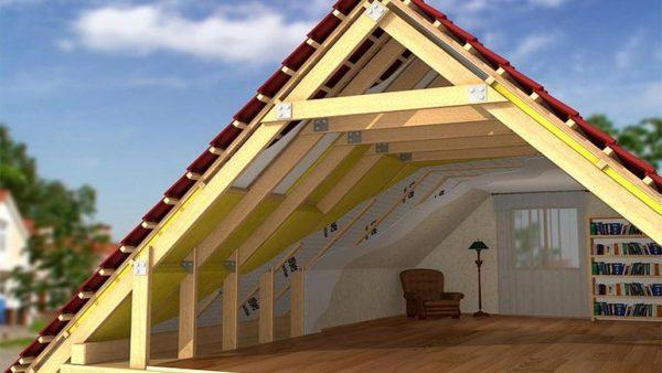 Себестоимость строительства такой крыши значительно ниже, чем постройка капитального второго этажа с несущими стенами