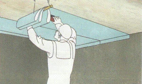 Схема поклейки обоев на потолок в одиночку
