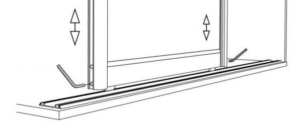 Схема регулировки механизма сдвижных дверей