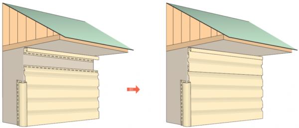Схема установки панелей последнего ряда