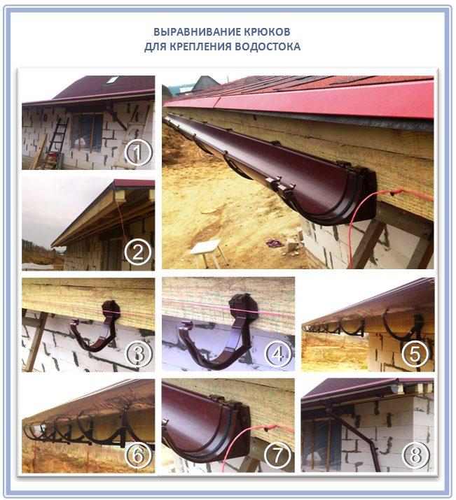 Как самому сделать водостоки для крыши своими руками 7
