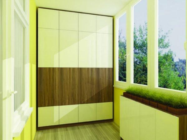 Шкаф на лоджии — практичность, уют, красота
