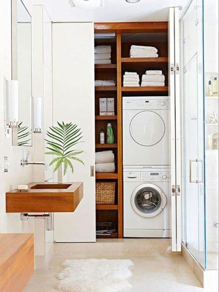 Шкаф в санузле — дополнительное место для хранения бытовой химии и других предметов