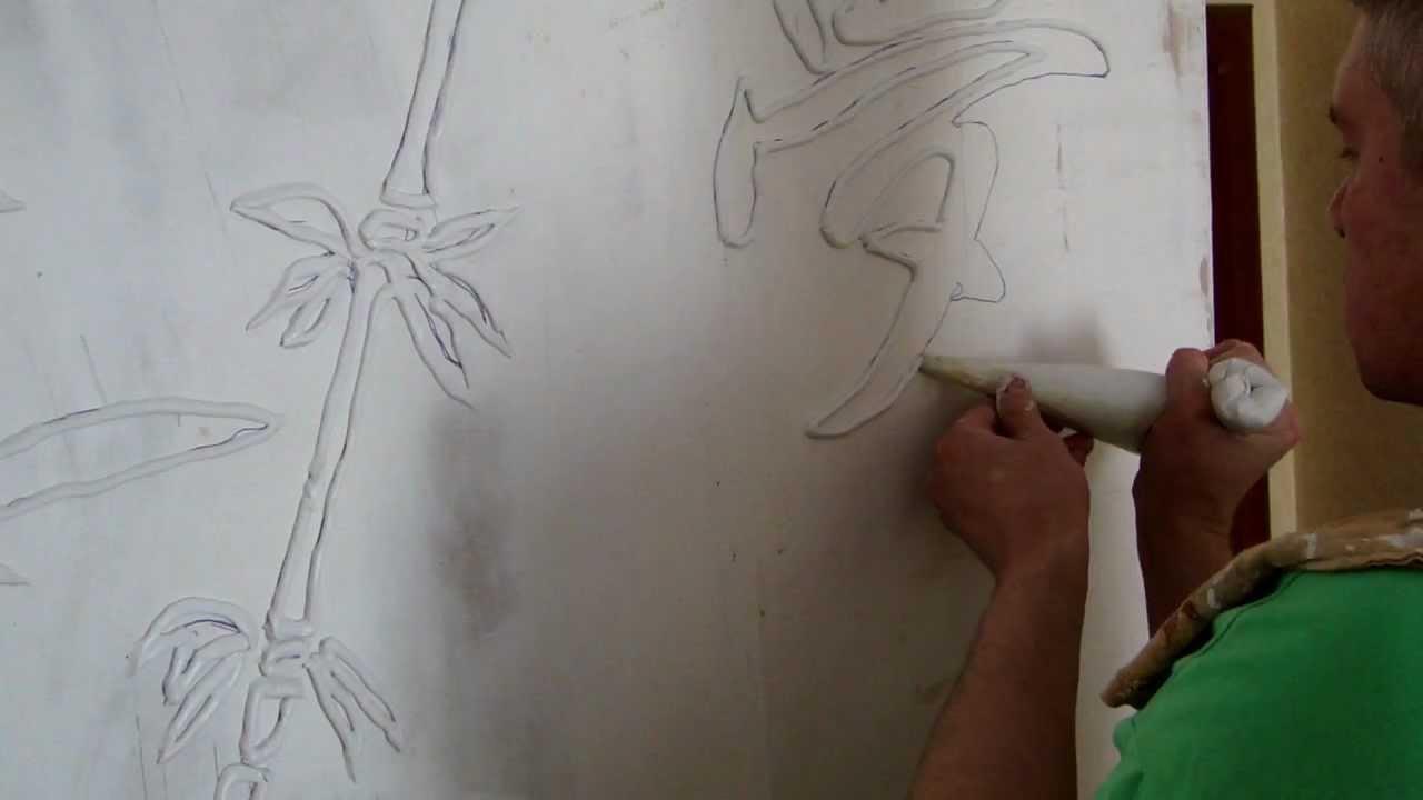 Рисунок на шпаклевке своими руками