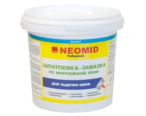 Шпатлевка-замазка Неомид специально предназначена для заделывания монтажной пены