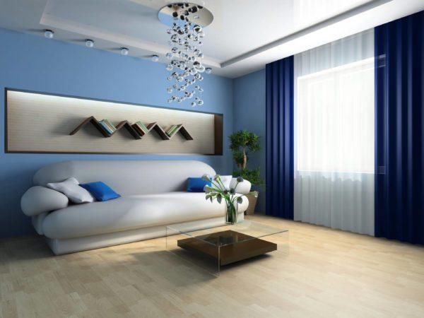 Шторы в комнате должны быть на тон темнее или светлее обоев, но ни в коем случае не в цвет