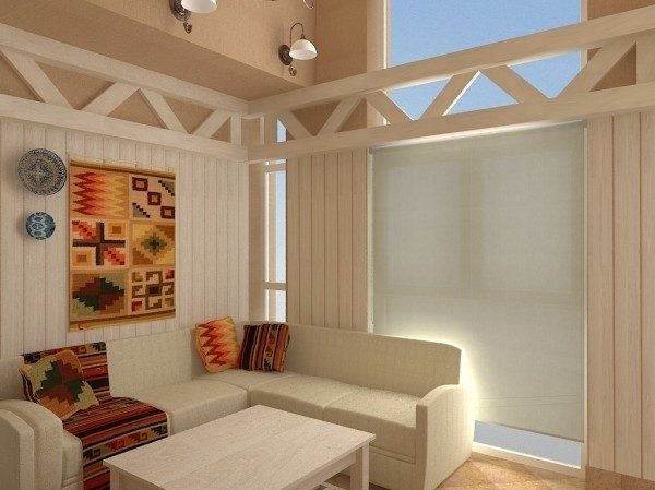 Штукатурка, плитка и крашеные деревянные панели
