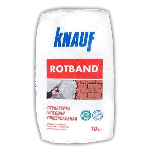 Штукатурка «Ротбанд» от «Кнауф».