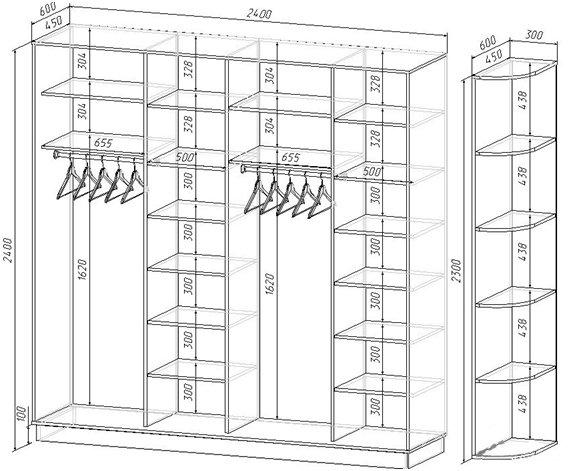 Шкаф в прихожую своими руками схема 97
