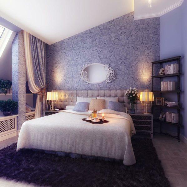 Сиреневые обои позволяют оформить дизайн комнаты стильно и неповторимо