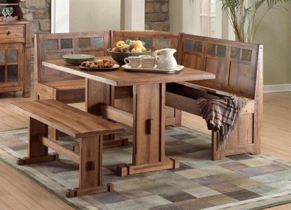 Скамейка на кухне — модная и практичная мебель