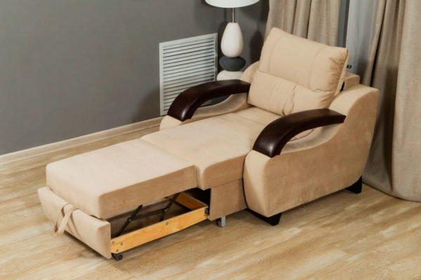 Современное кресло трансформер удобно в эксплуатации и отлично вписывается в интерьер