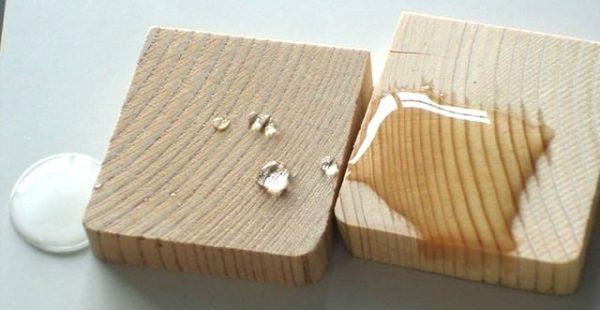 Сравнение влагоустойчивости обработанной пропиткой и необработанной древесины