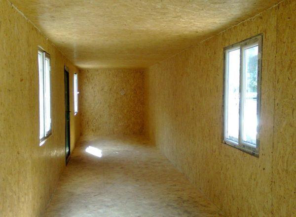 Стандартная внутренняя отделка дачных бытовок и каркасных домов