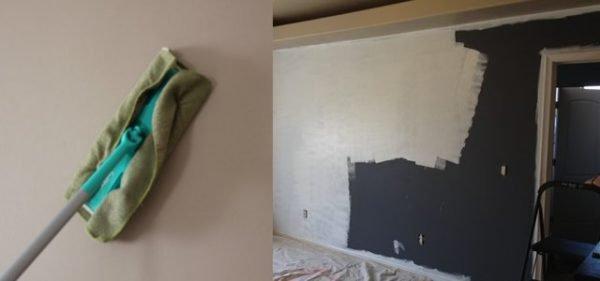 Светлые и темные стены готовятся с использованием разных составов