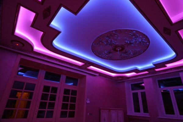Светодиодная подсветка полимерного покрытия.