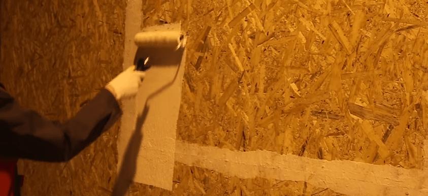 Покраска осб плиты акриловой краской
