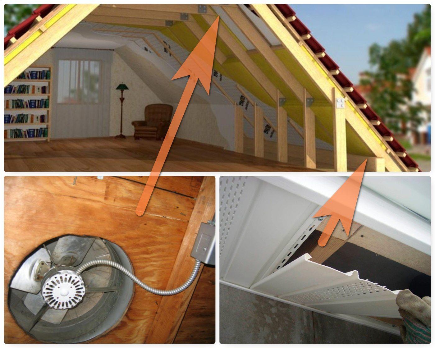 Как сделать вентиляцию чердака в доме