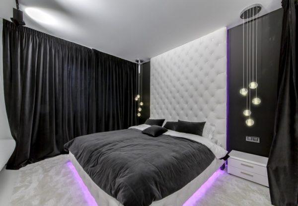 Такое решение подходит для стильных спален