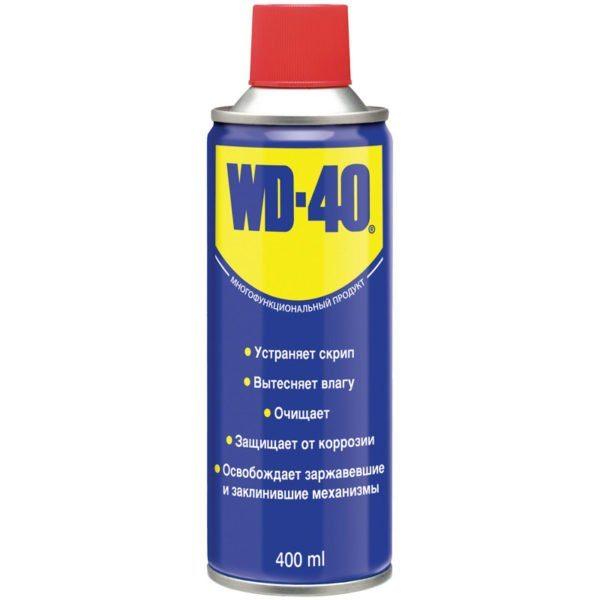 Технический аэрозоль WD-40 поможет при раскручивании любых даже самых старых резьбовых соединений