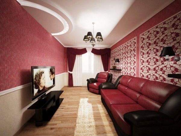Темный верх в цвет мебели.