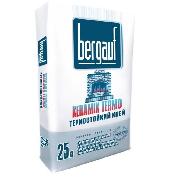 Термостойкий плиточный клей «Bergauf Keramik Termo».
