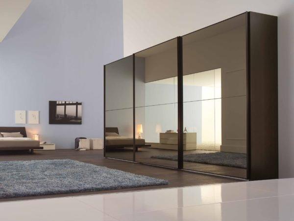 Тонированные зеркальные двери