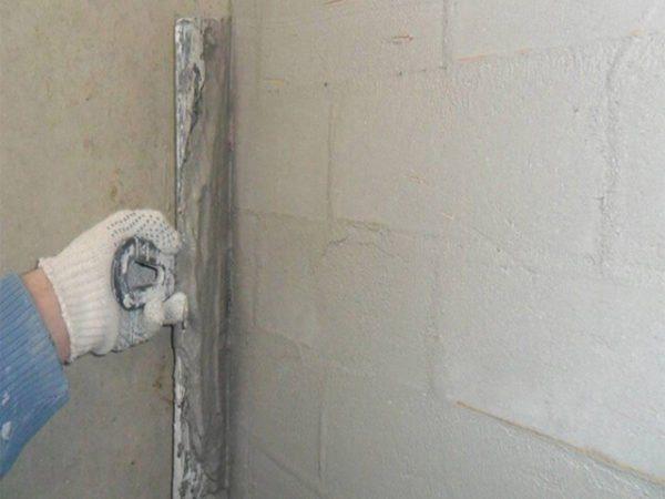 Цементная шпаклевка устойчива к атмосферным воздействиям