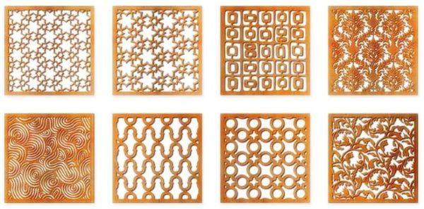 Цветные металлы хорошо подходят для изготовления декоративных накладок.