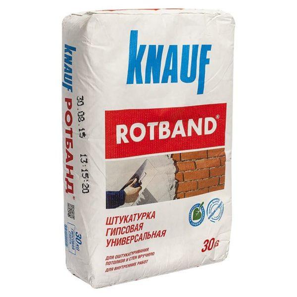 Универсальный состав «Ротбанд» от «Knauf».