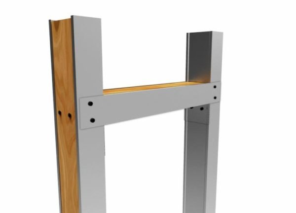 Устройство дверного проема в гипсокартонной перегородке производится с использованием деревянных брусков, усиливающих конструкцию