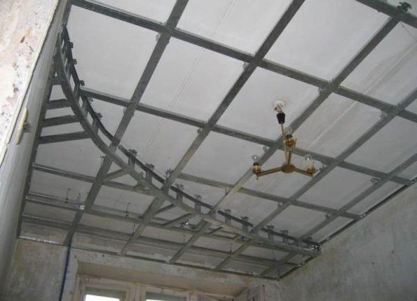 Устройство многоуровневого потолка