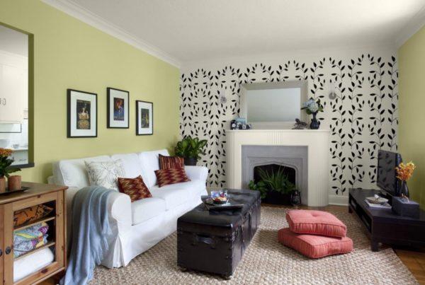 Узорчатые полотна помогают правильно расставить акценты в интерьере